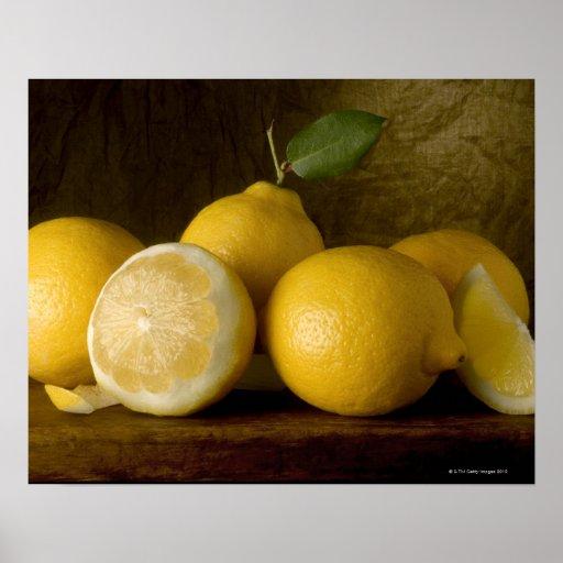 limones en la madera poster