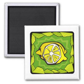 Limones enmarcados imán para frigorifico