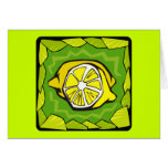 Limones enmarcados tarjeta