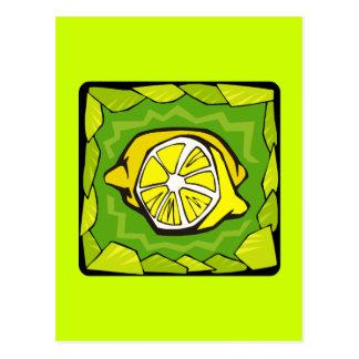 Limones enmarcados postal