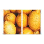 Limones Impresión De Lienzo