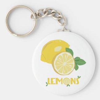 Limones Llavero Redondo Tipo Pin