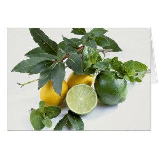 Limones para el uso en los E.E.U.U. solamente.) Tarjeton