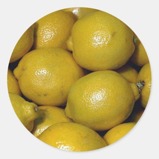 Limones Pegatina Redonda