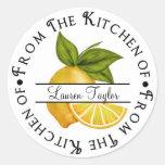 Limones personalizados de las etiquetas engomadas etiquetas redondas