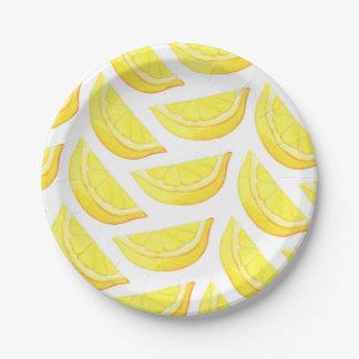 Limones - placa de papel plato de papel 17,78 cm