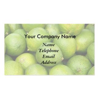 Limones verdes frescos y tema del zumo de lima plantillas de tarjetas personales