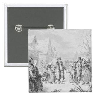 Limosnas de distribución de Louis XVI Pin Cuadrado