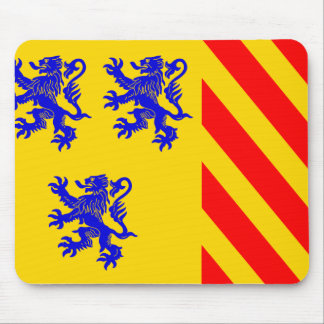 Limousin (Alternate), France flag Mouse Pad