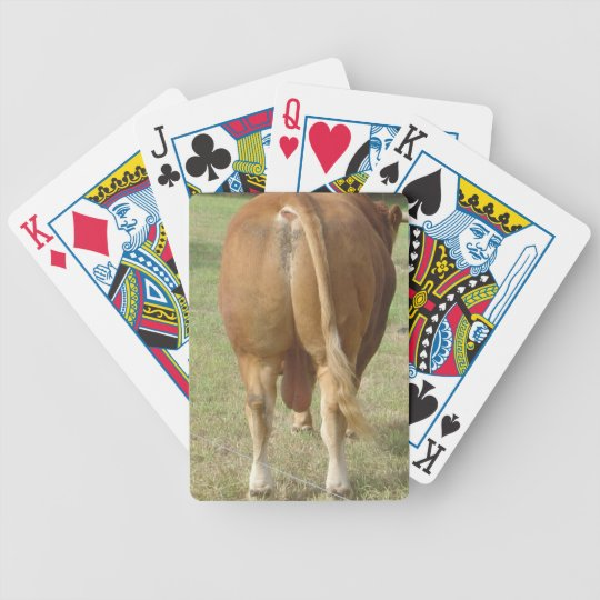 Limousin Bull Butt Bicycle Playing Cards