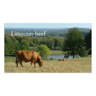 Limousin cows in a rural landscape Double-Sided standard business cards (Pack of 100)