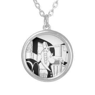 Limousine by Anne Harriet Fish Round Pendant Necklace