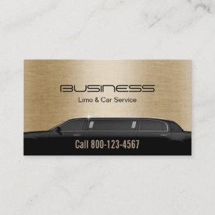 Limo business cards templates zazzle limousine limo car service modern gold business card colourmoves