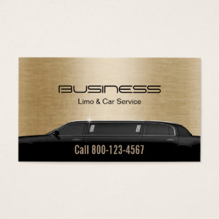 Limo service business cards templates zazzle limousine limo car service modern gold business card colourmoves Images