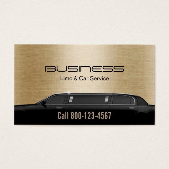 Limousine Limo & Car Service Modern Gold Business Card | Zazzle.com