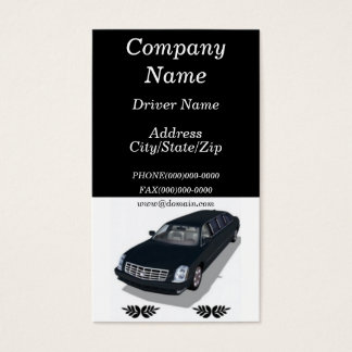 Limousine Limo Service Business Cards