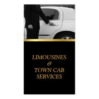 Limousine, Limo, Town Card, Driver Service Business Card Templates