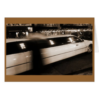 Limousine NYC Little Italy Chinatown Greeting Card