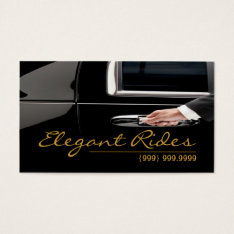 Limousines Limo Car Services Driver Business Card at Zazzle