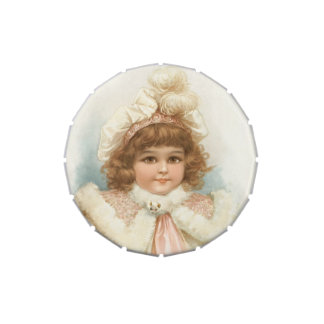 "Limp candy ""the little girl with the collar of fur jelly belly candy tin"