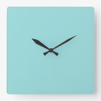 Limpet Shell Blue Color Background Robin Egg Blue Square Wall Clock