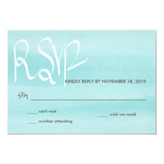 Limpet Shell Watercolor Wedding RSVP Typography Card