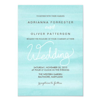 Limpet Shell Watercolor Wedding Typography Card