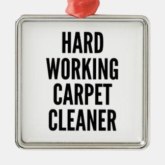 Limpiador de trabajo duro de la alfombra adorno navideño cuadrado de metal