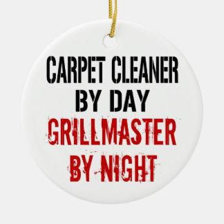 Limpiador Grillmaster de la alfombra Adorno Navideño Redondo De Cerámica