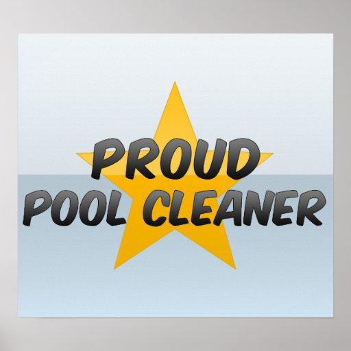 Limpiador orgulloso de la piscina impresiones
