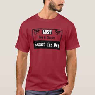 Limpiador perdido del perro playera