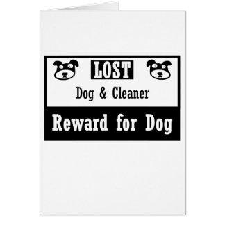 Limpiador perdido del perro tarjeta pequeña