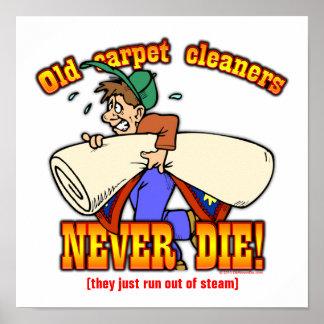 Limpiadores de la alfombra póster