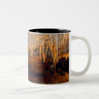 Limpid Underground Cave Pool Two-Tone Coffee Mug