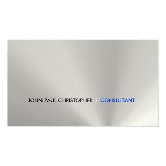 Limpie al consultor corporativo tarjetas personales