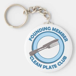 Limpie al miembro fundador del club de la placa llaveros