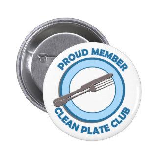 Limpie al miembro orgulloso del club de la placa pin redondo de 2 pulgadas