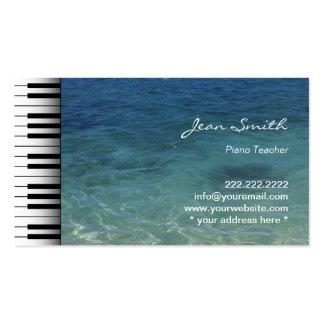 Limpie al profesor de piano azul de la música de tarjetas de visita