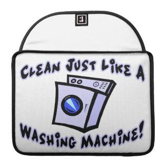 Limpie apenas como una lavadora fundas para macbook pro