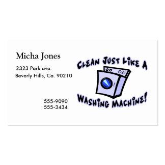 Limpie apenas como una lavadora tarjetas de visita