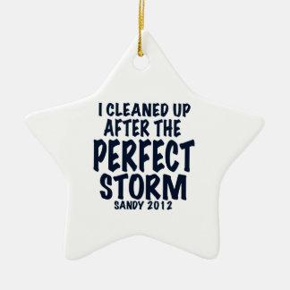 Limpié después de la tormenta perfecta, Sandy Adorno Navideño De Cerámica En Forma De Estrella