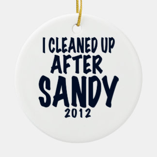 Limpié después de Sandy 2012, huracán Sandy Adorno Navideño Redondo De Cerámica