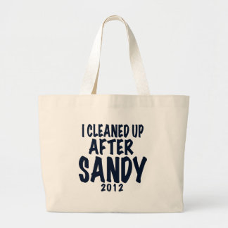 Limpié después de Sandy, regalos de Sandy del hura Bolsas De Mano