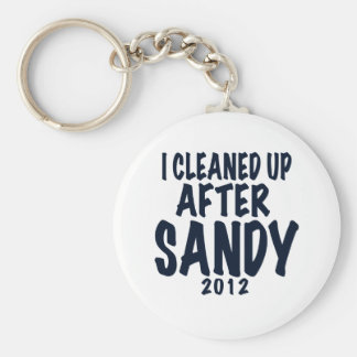 Limpié después de Sandy, regalos de Sandy del hura Llavero Redondo Tipo Pin