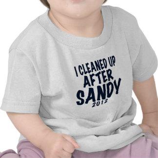 Limpié después de Sandy, regalos de Sandy del hura Camisetas