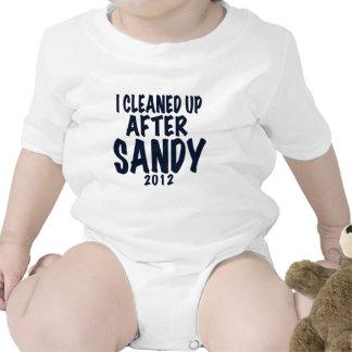 Limpié después de Sandy, regalos de Sandy del hura Traje De Bebé