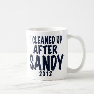 Limpié después de Sandy, regalos de Sandy del Taza De Café