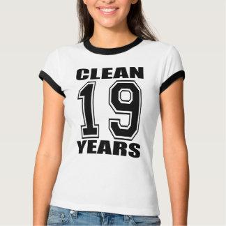 ¡Limpie diecinueve años!!! Playera