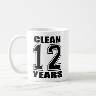 limpie doce años de taza negra