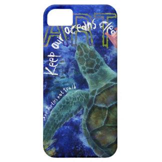 Limpie el arte de la tortuga de mar del océano funda para iPhone SE/5/5s